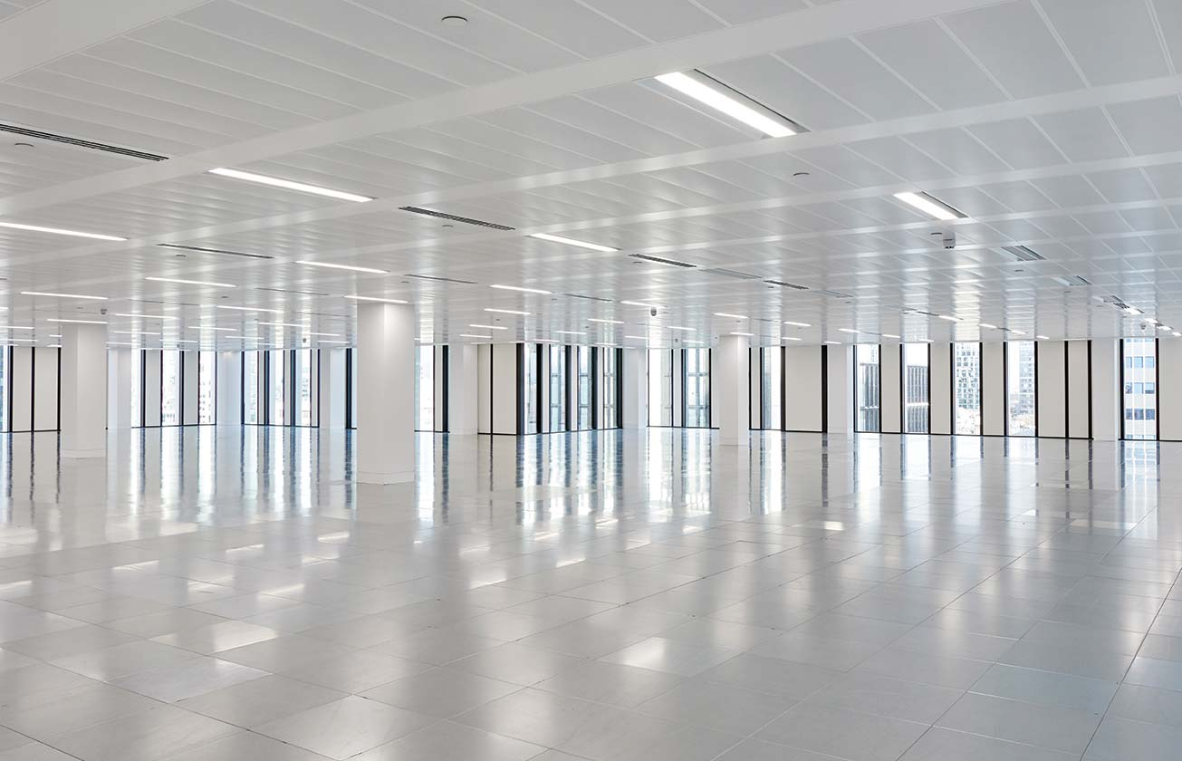 Office floor space at 2 London Wall Place.